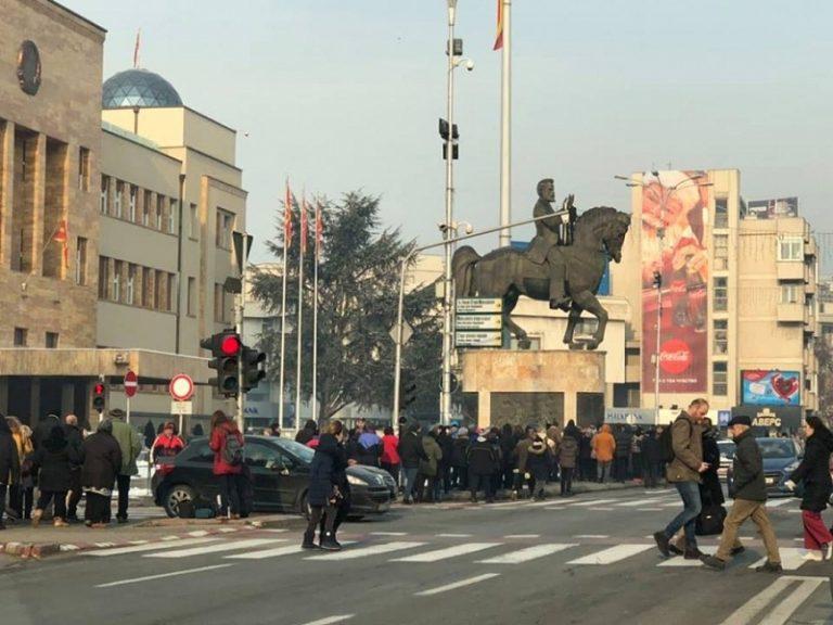 Protestë në Shkup  disa rrugë bllokohen